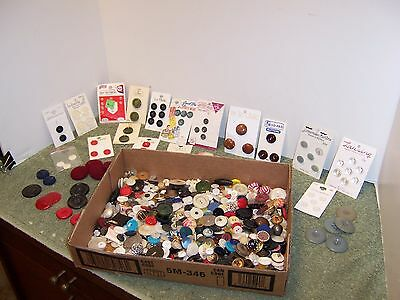 TWO POUNDS Vintage Sewing BUTTONS  Estate Lot Asstd Mixed lot