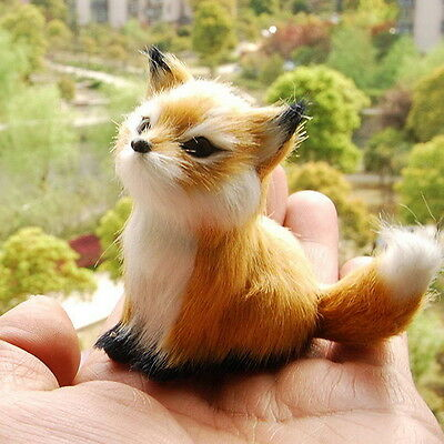 Little Fox Sitting Fengshui Learning Resources Miniature Plush Stuffed Animal AS