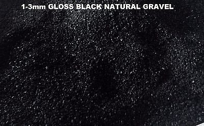 1-3mm DIAMOND BLACK GLOSS QUARTZ AQUARIUM TERRARIUM GRAVEL-10KG BAG -WHOLESALE