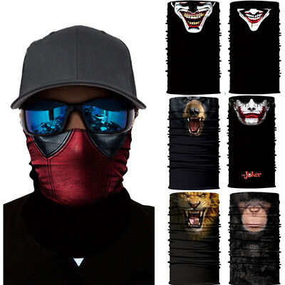 1pc / 5pc Clown Joker Skull  Face Shield Sun Mask Balaclava Gaiter Neckerchief