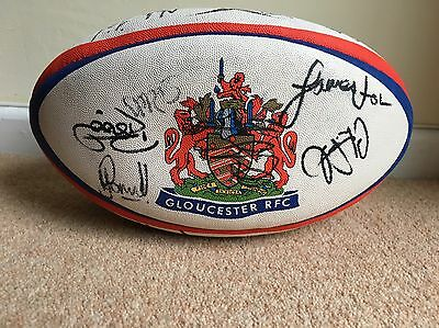 Signed Gloucester Rugby Ball. Size 5. 2002-03 Season. League Winners