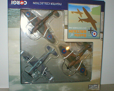 SPITFIRE,HURRICANE & MESSERSCHMITT of BATTLE of BRITAIN with Stands 1/100