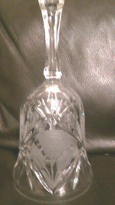 Cut Glass Etched Engraved  Bell