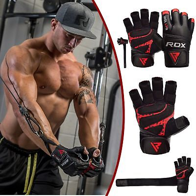 RDX Leder Trainings Fitneß Handschuhe Krafttraining Bodybuilding Fitness DE