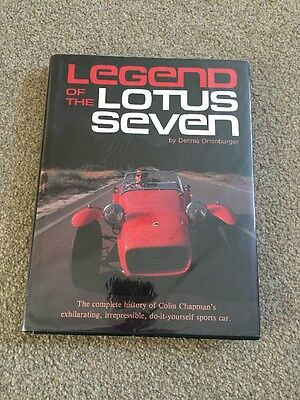 Legend of the Lotus Seven Ortenburger Very Rare Caterham First UK Edition Book