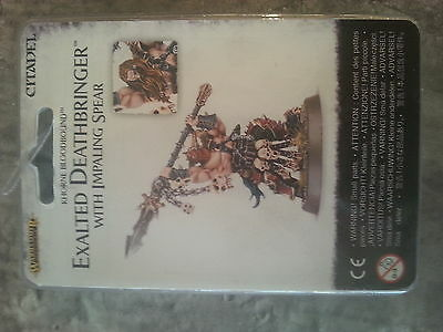 Warhammer Age Of Sigmar Exalted Deathbringer With Impaling Spear New & Sealed