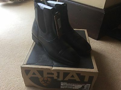 Bnwt womens Black ariat challenge square toe zip paddock equestrian boots size 8