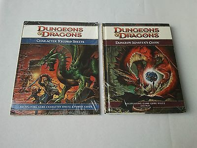 Sealed Dungeons & Dragons DUNGEON MASTERS GUIDE 4th Ed.+ Character Record Sheets