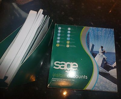 Sage Instant Accounts Manual, leaflets & cd's