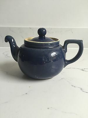 Vintage Rare Denby Cottage Blue Small Tea Water Pot And Lid