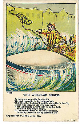 Postcard Poem By Permission Metzler - The Welcome Shore C1920's