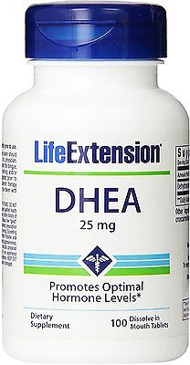 DHEA, Life Extension, 100 tablets 25 mg