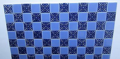 """10 miniature ceramic tiles by Terry Curran    5 plain 5 embossed    1/2""""sq."""