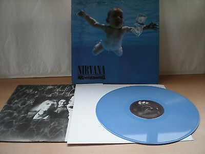 "Nirvana - Nevermind 12"" BLUE Vinyl  L.P. - Excellent Condition - 424 425-1"