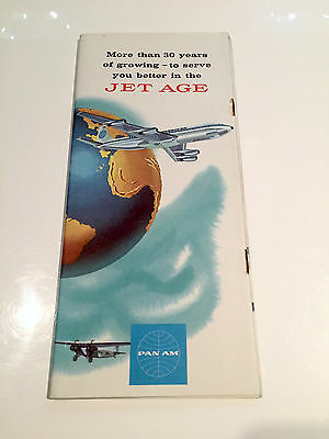 Pan Am History Brochure 1958 -Jet Age 707 Dc-8 Stratocuiser Constellation