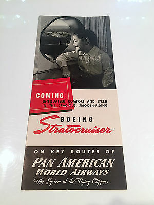 Boeing Statocruiser Manufacturers Sales Brochure For Pan Am Cutaway
