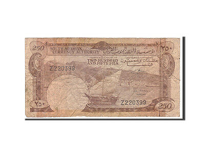 [#115633] Yemen Democratic Republic, 250 Fils, 1965, Undated, KM:1a, VG(8-10)