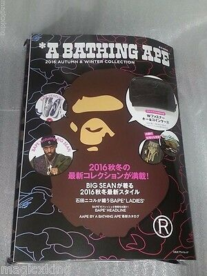 A Bathing APE 2016 AW Magazine Collection w BAPE Zipper Key & Coin Case NEW