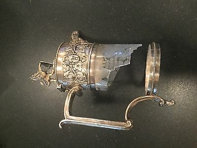 SUPERB 19th. CENTURY HALL-MARKED SILVER CLARET JUG MOUNT - 1880