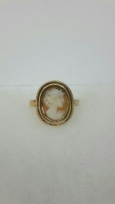 RR Rare Russian Imperial 18k 72 gold ring with a cameo ИП 19th century