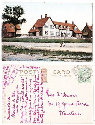 Early Postcard,Hertfordshire, Letchworth, Birds Hill Garden, Old Houses, 1908