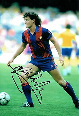 FC BARCELONA MARK HUGHES Signed 12 x 8 photo & COA