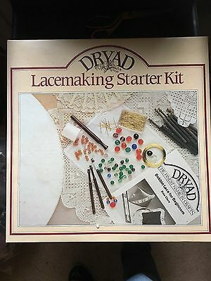 Lacemaking Kit. Bobbins, Pins, Beads, Wire. Please Note.... No Instructions