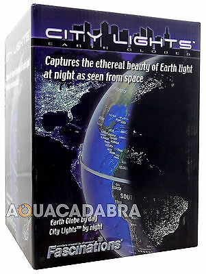 "Fascinations City Lights 6"" Globe Earth 6 Inch Rotating Illuminated Night"
