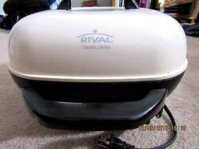 Rival 12X12 White Electric Skillet Immersible S12P, MPTC-5