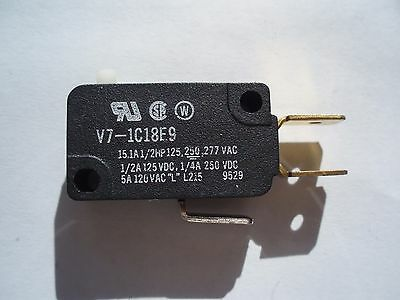 Honeywell Micro Switch V7-1C18E9 Push Button Basic Snap Action Spdt 15A 250Vac