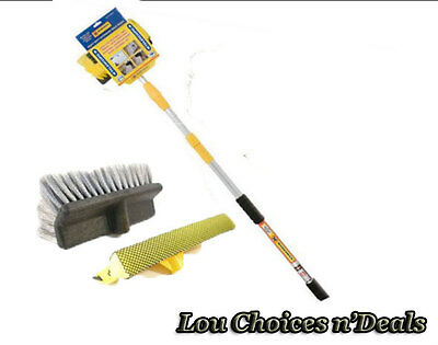 Car Wash Brush Telescopic Sponge Window Water Fed Extendable Fast Cleaning Tool