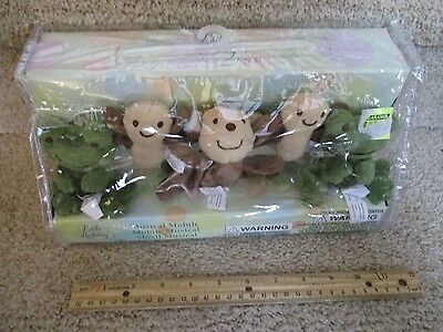 Little bedding Nojo Musical Mobile NEW Nusery crib Baby Safari Monkey Frog bird