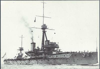 Postcard HMS Dreadnought battleship cruiser Ship British GB