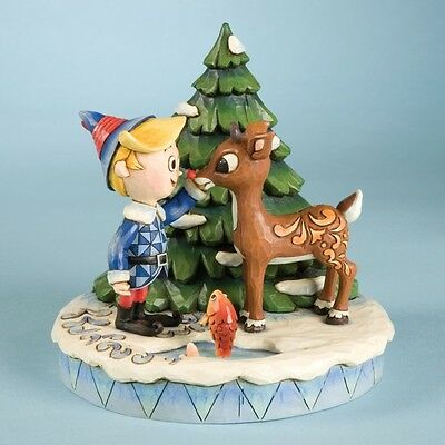 Rudolph & Friends Rudolph, Hermey & Christmas Tree Fig. Jim Shore, New, 4009802