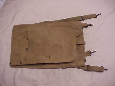 ORIGINAL WWI/WWII USMC Pattern 1912 Haversack/Pack With Pack Roll Carrier