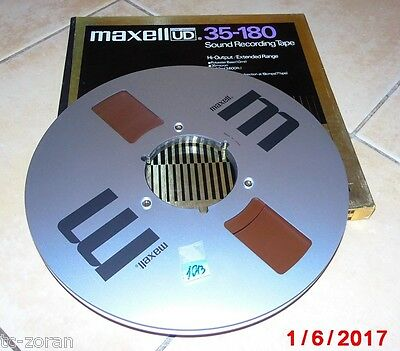 MAXELL UD 35-180 Sound Recording Tape METALL-TONBANDSPULE IN OVP - groß;  (j013)