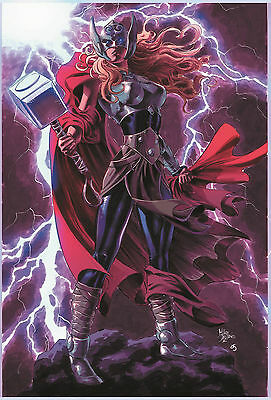 Mighty Thor #15 1:10 Teaser Variant Cover By Mike Deodato