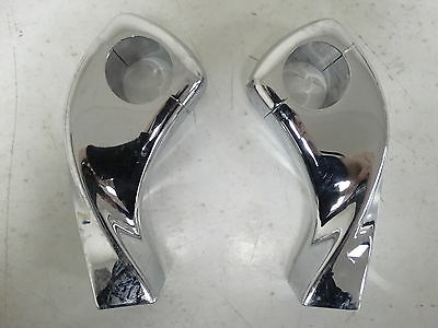 "Show Chrome 4"" Twisted Motorcycle Handlebar Risers for 1"" Bars"