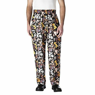 Chefwear 3500-13 Ultimate Chef Pants Mushrooms all sizes XS-2XL Men's NEW!