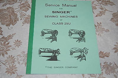 Professional Service Manual on CD for Class 29U Singer Sewing Machines