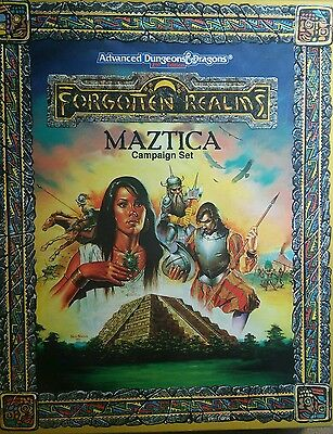 Advanced Dungeons & Dragons FORGOTTEN REALMS MAZTICA Campaign Setting 1991 NEW