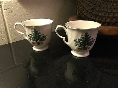 Set of 2 Nikko Happy Holidays Christmas Cups (no Saucers) Made in Japan