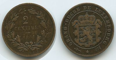 G7715 - Luxemburg  2½  Centimes 1854 Km#21 Guillaume III.1849-1890
