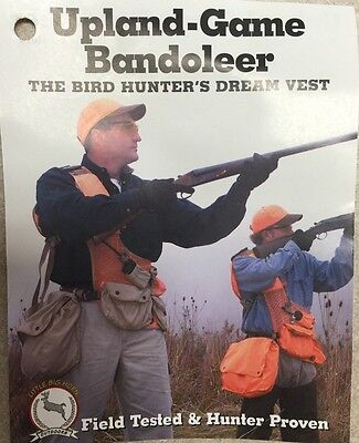 New Upland Game Bandoleer Vest (One Size Fits All) Ambidextrous Design Hunting