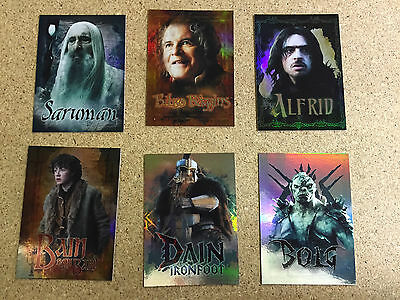 Cryptozoic Hobbit Five Armies FOIL CHARACTER BIOGRAPHY 6 card insert set