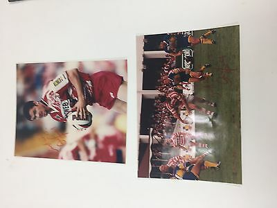 Andy Farrell - Wigan rugby league pictures x 2 very rare and signed