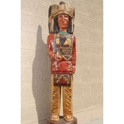 Frank Gallagher 5' WOODEN CIGAR STORE INDIAN CHIEF Native American Made in USA