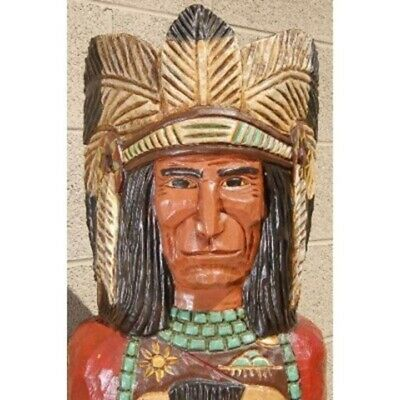 Frank Gallagher 6' WOODEN CIGAR STORE INDIAN CHIEF Native American Made in USA