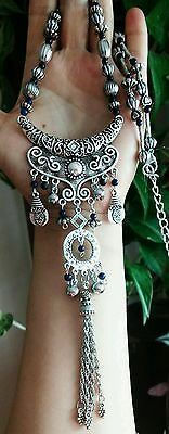 Natural Lapis Ethnic Necklace bohemian Tribal Hand made Moroccan style