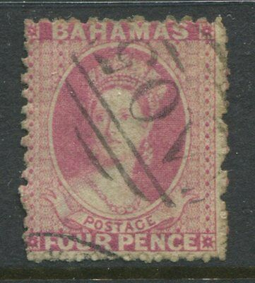 Bahamas 1863 4d rose used with a numeral A05